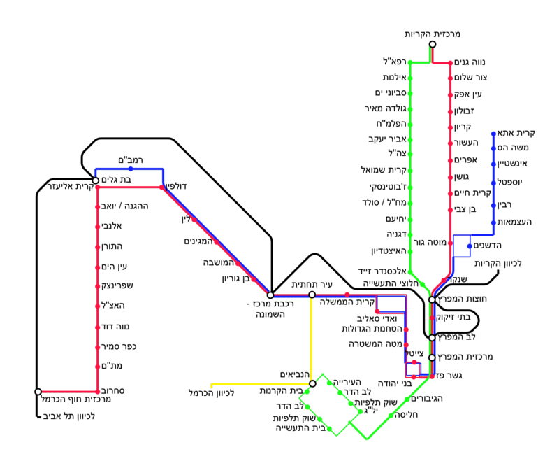 Map of the Metronit bus lines in Haifa.png